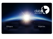 Exclusive Club5* klienta karte 2 gadiem